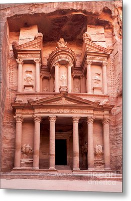The Ancient Treasury Petra Metal Print by Jane Rix