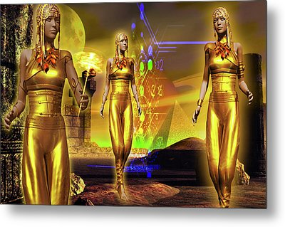 Metal Print featuring the digital art The Ancients  by Shadowlea Is