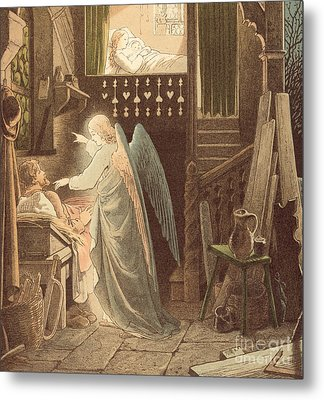 The Angel Appearing To Joseph Metal Print by Victor Paul Mohn