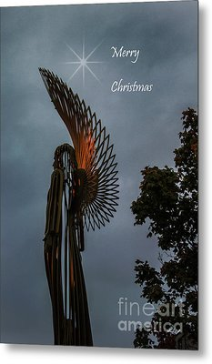 The Angel At Christmas Metal Print by Steve Purnell