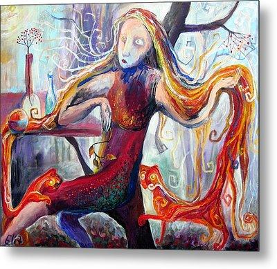 The Angel Of October Metal Print by Elisheva Nesis