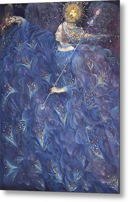 The Angel Of Power Metal Print by Annael Anelia Pavlova