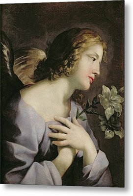 The Angel Of The Annunciation Metal Print by Giovanni Francesco Romanelli