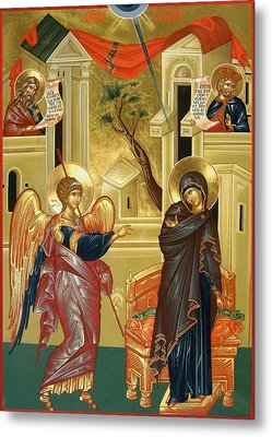 The Annunciation Metal Print by Daniel Neculae