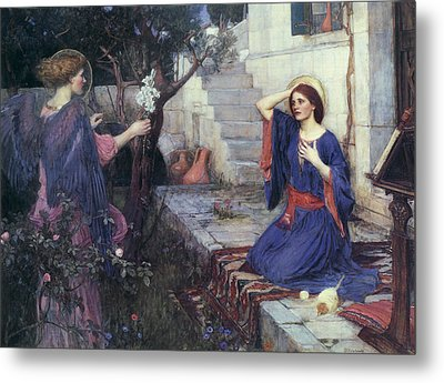 The Annunciation Metal Print by John William Waterhouse