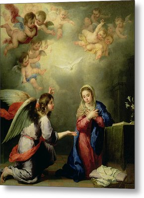 The Annunciation Metal Print by Bartolome Esteban Murillo