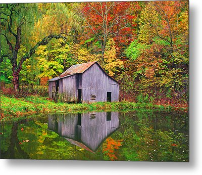 The Appalachian Reflection Metal Print by Bijan Pirnia