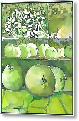 Metal Print featuring the painting The Apple Closet by Mindy Newman