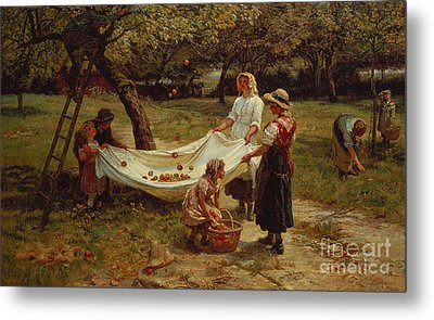 The Apple Gatherers Metal Print