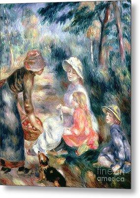The Apple-seller Metal Print by Pierre Auguste Renoir