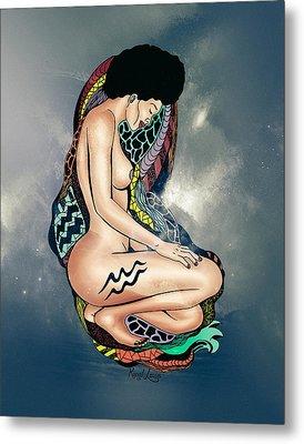 The Aquarius Woman Metal Print by Kenal Louis