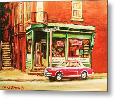 The Arcadia Five And Dime Store Metal Print by Carole Spandau