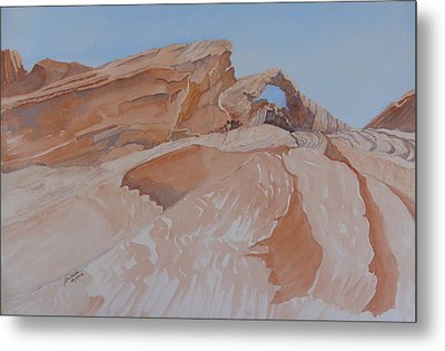 Metal Print featuring the painting The Arch Rock Experiment - Vi by Joel Deutsch