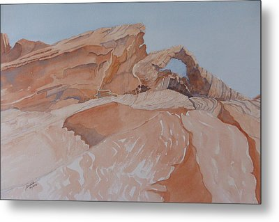 Metal Print featuring the painting The Arch Rock Experiment - Vii by Joel Deutsch