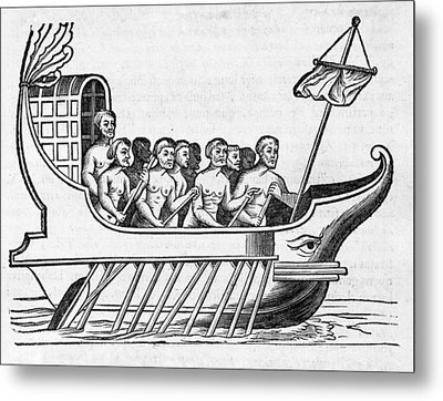 The Argo, 17th Century Artwork Metal Print by Middle Temple Library