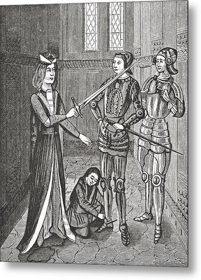 The Arming Of A Knight After The Metal Print
