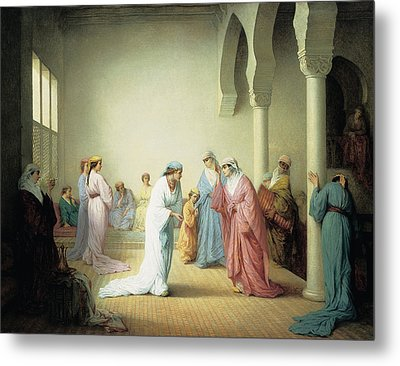 The Arrival Into The Harem At Constantinople Metal Print