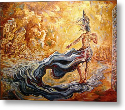 The Arrival Of The Goddess Of Consciousness Metal Print by Darwin Leon