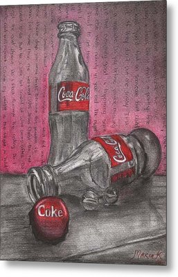 The Art Of Coca Cola Metal Print by Maria Kobalyan