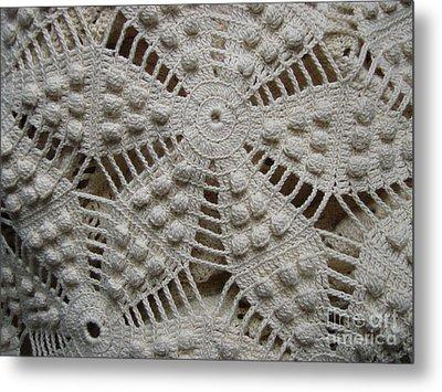 The Art Of Crochet  Metal Print