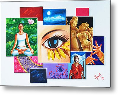 Metal Print featuring the painting The Art Of Expression by Ragunath Venkatraman