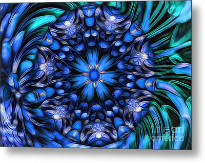 The Art Of Feeling Centered Metal Print by Mary Lou Chmura