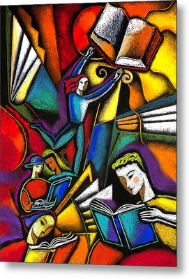 Metal Print featuring the painting The Art Of Learning by Leon Zernitsky