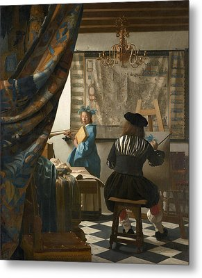 The Art Of Painting Metal Print by Jan Vermeer