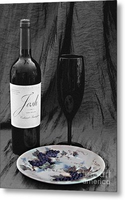 The Art Of Wine And Grapes Metal Print by Sherry Hallemeier
