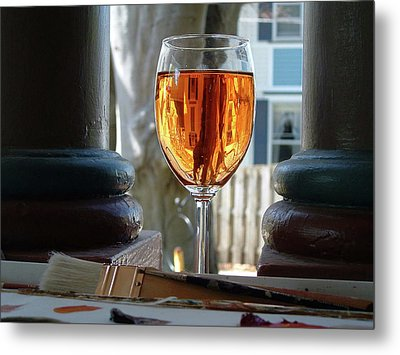 The Art Of Wine Metal Print