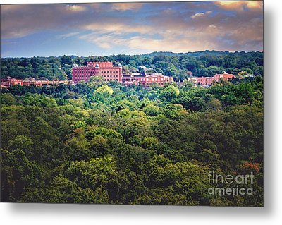 The Artesian Hotel In The Forest In Horizontal Metal Print by Tamyra Ayles