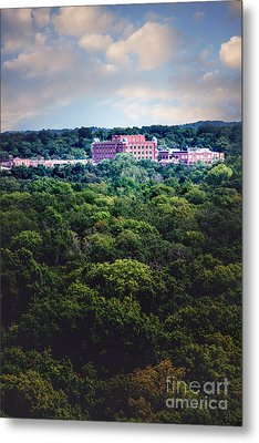 The Artesian Hotel In The Forest In Vertical Metal Print by Tamyra Ayles