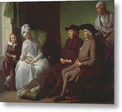 The Artist And His Family Metal Print