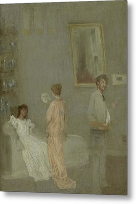 The Artist In His Studio Metal Print by James Abbott McNeill Whistler
