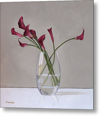 The Artists Life Metal Print by Linda Tenukas