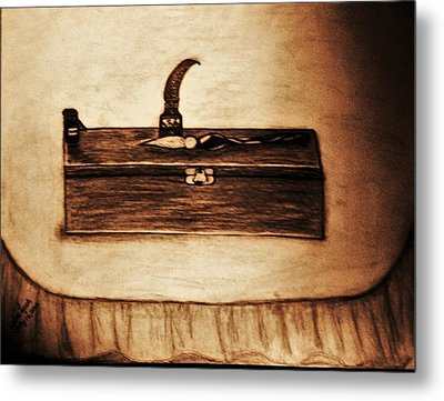 The Artists Pencil Box And Ink Well And Pen Metal Print