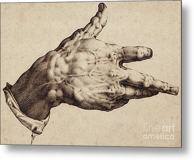 The Artist's Right Hand Metal Print
