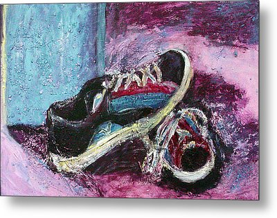 The Artists Shoes Metal Print by Sarah Crumpler
