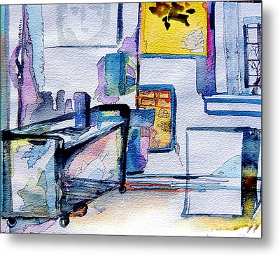 The Artists Studio Metal Print by Mindy Newman