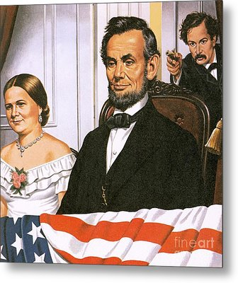 The Assassination Of Abraham Lincoln Metal Print by John Keay