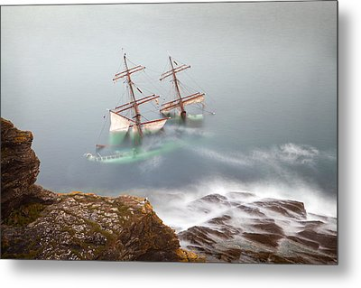 The Astrid Goes Aground Metal Print by Alan Mahon
