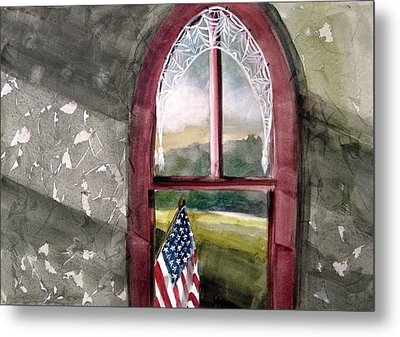 Metal Print featuring the painting The Attic Window by John Williams