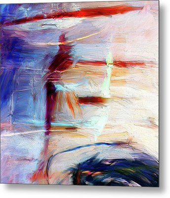Metal Print featuring the painting The Auberge by Dominic Piperata