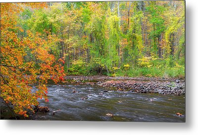 The Autumn River Metal Print