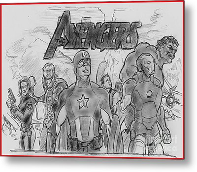 The Avengers Metal Print by Chris  DelVecchio