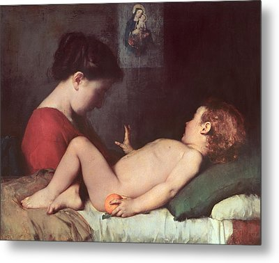 The Awakening Child Metal Print by Jean Jacques Henner