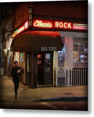 The Back Fence Bar Metal Print by Lee Dos Santos
