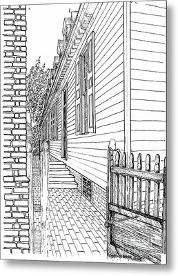 The Back Gate To The Alley Metal Print by Dawn Boyer
