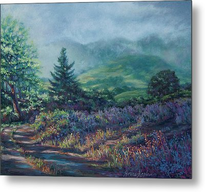 The Back Road In Metal Print