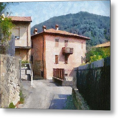 The Back Street Towards Home Metal Print by Jeff Kolker